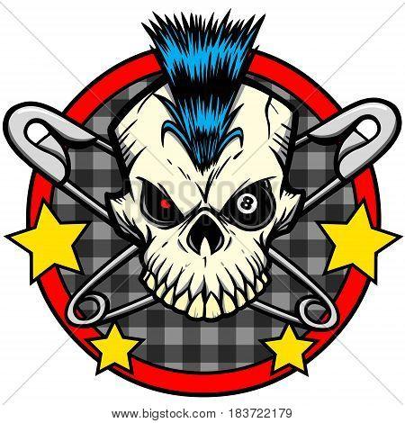 A vector illustration of a Punk rock symbol.