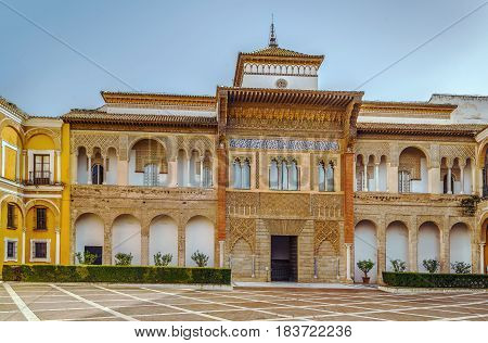 Mudejar Palace in Alcazar of Seville was built by Pedro I of Castile in 1364 Spain
