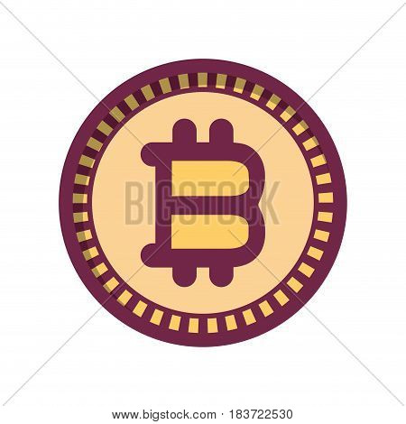 bitcoin virtual currency business icon, vector illustration