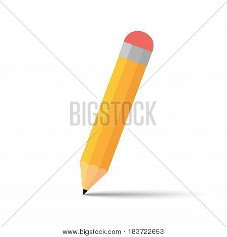 Pencil isolated on background. Vector illustration. Eps 10.