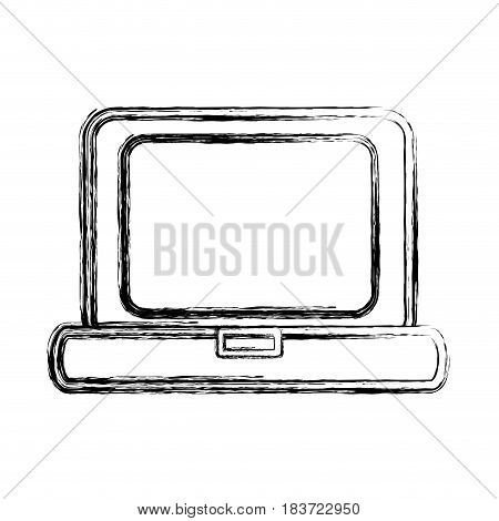 figure laptop technology and business information icon, vector illustration