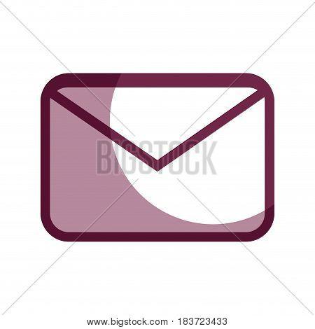 contour letter message to communication concept icon, vector illustration