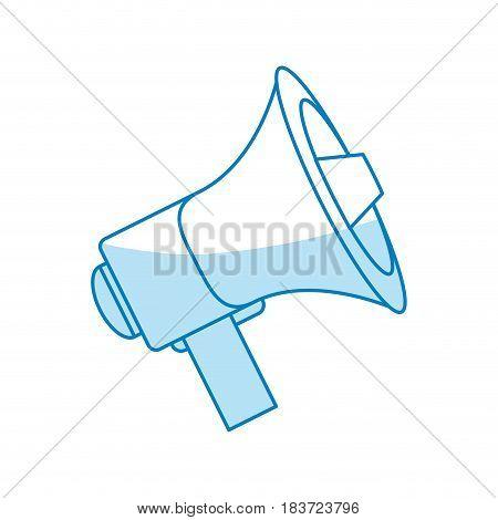 Bullhorn social media flat vector illustration design