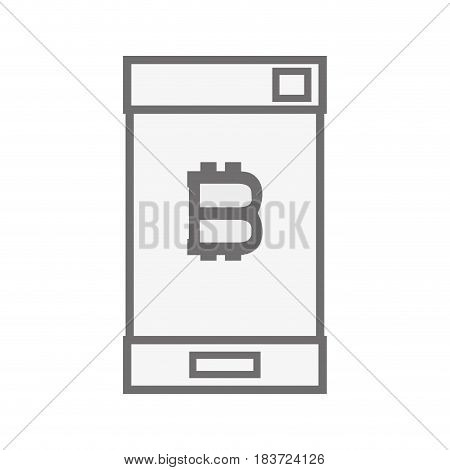 concept smartphone with bitcoin money symbol, vector illustration