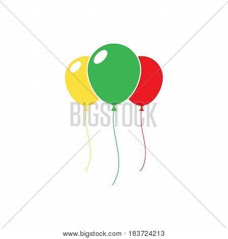 ballon icon isolated on background. Vector illustration. Eps 10.
