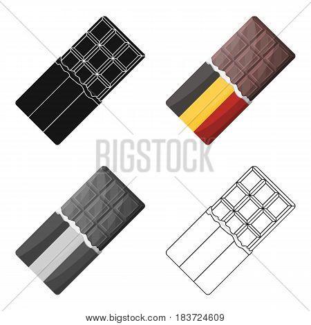 Belgian  chocolate.The dark Belgian wolf. Belgium single icon in cartoon style vector symbol stock web illustration.