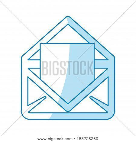 Email or mail symbol flat vector illustration design