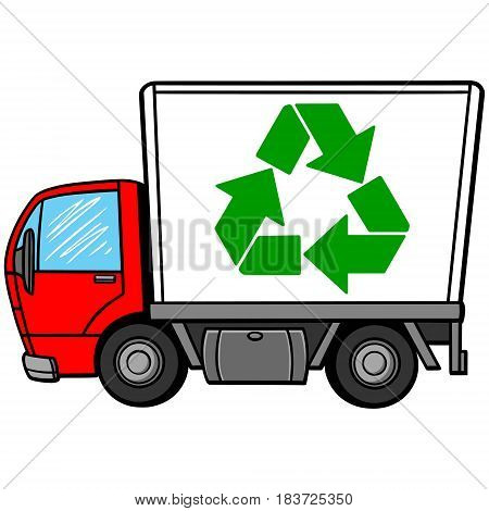 A vector illustration of a Recycling Truck.