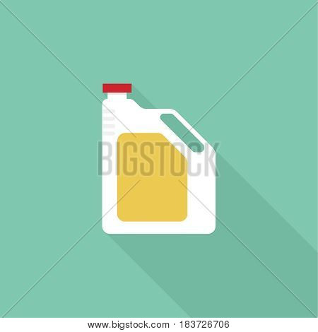 Canister under engine oil. Modern thin line icon. outline symbol. Vector.Can for lubricating material. The concept of service oil change, repair. flat style poster