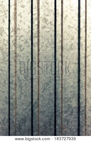 Creative Striped Metallic Background. Flat Background Texture Of Dirty Rusty Metal. Bright Rusty Spo