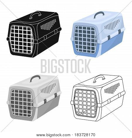 Container for animals.Pet shop single icon in cartoon style vector symbol stock illustration .