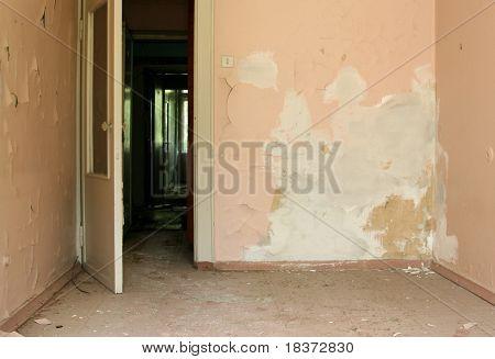 grunge abandoned room
