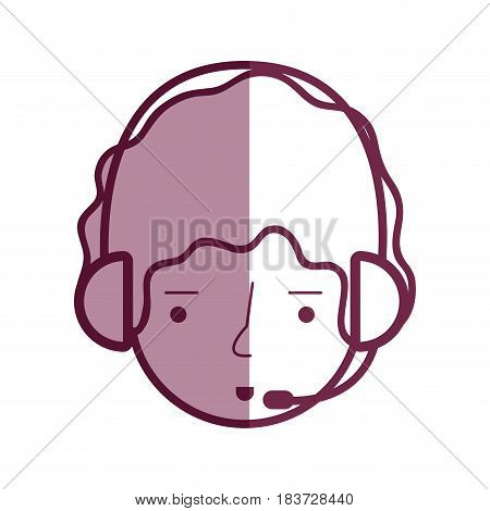 delivery call center man services, vector illustration