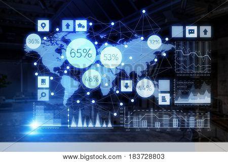 Business digital infographs