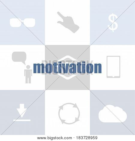 Text Motivation. Business Concept . Infographic Of Technology Or Education Process