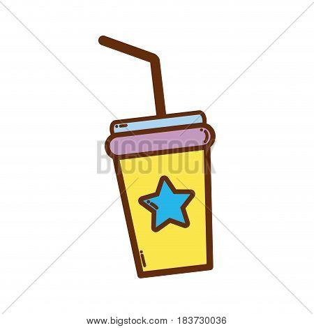 soda beverage in the cinema movie scene, vector illustration
