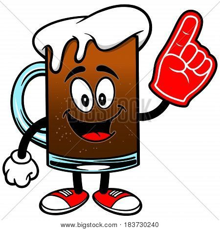 A vector illustration of a mug of Root Beer.