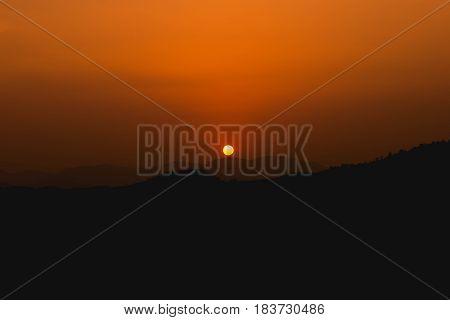 sunset mountain at evening time look beautiful