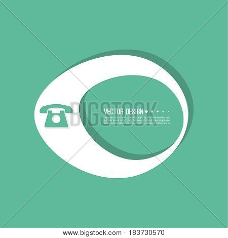 Cellphone  banner blank template.  Phone sign icon. Empty vector form. information, text box, textbox on turquoise background. Speech Bubbles.