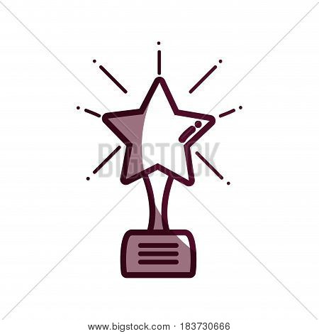 silhouette short film with star prize tool, vector illustration