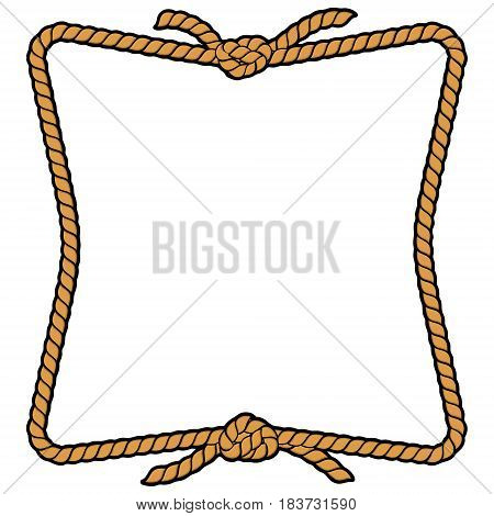 A vector illustration of a Rope border.