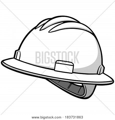 A vector illustration of a Roughneck Hard hat.