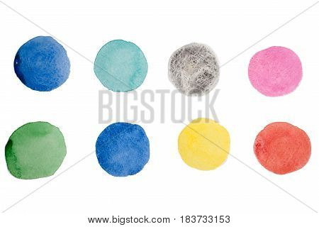 Abstract watercolor art hand paints on white background