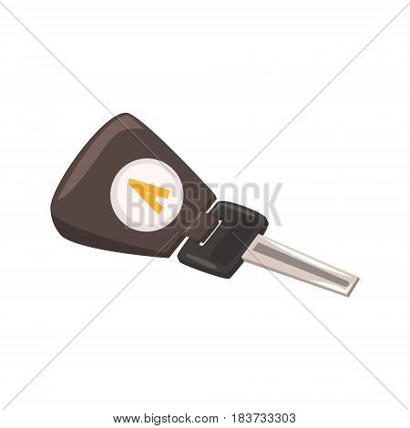 Modern car key. Colorful cartoon vector Illustration isolated on a white background