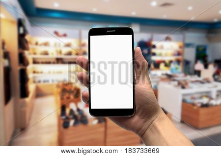 Blurred photo, Blurry image, shoe shop, background