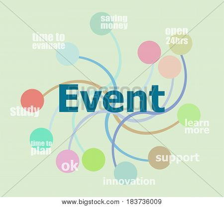 Text Event. Abstract Infographics Options Template. Can Be Used For Workflow Layout, Diagram, Busine