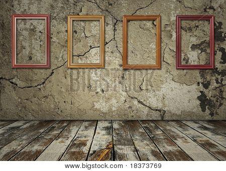 alte Interieur mit frames