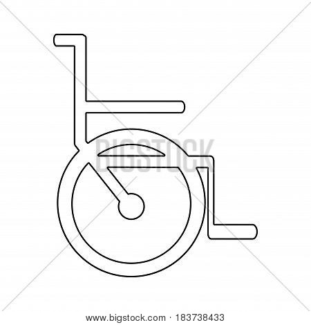 silhouette abstract wheelchair flat icon vector illustration