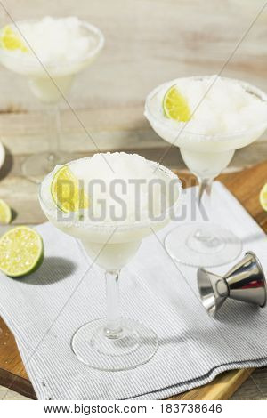 Cold Refreshing Lime Frozen Margarita