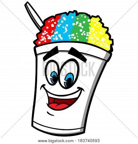 A vector illustration of a snow cone.