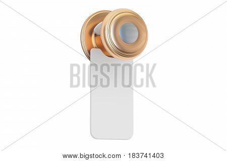 Blank sign on the door handle 3D rendering