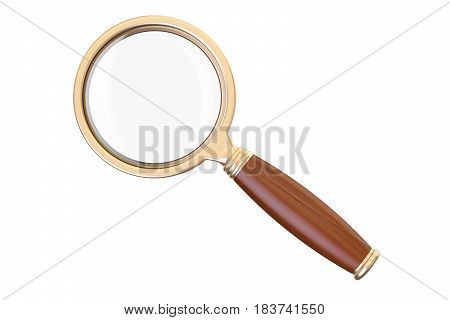 magnifying glass 3D rendering isolated on white background