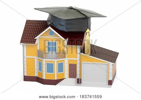 smart house concept 3D rendering isolated on white background