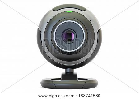 Webcam 3D rendering isolated on white background