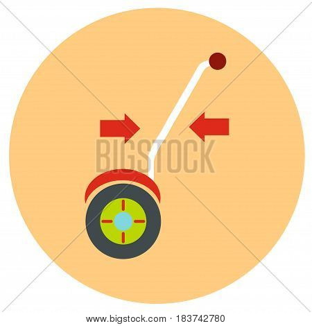 Gyroscope. Vector icons in a flat style on a color road background.