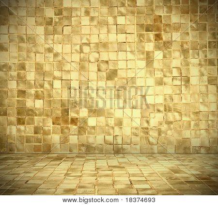 golden mosaic interior
