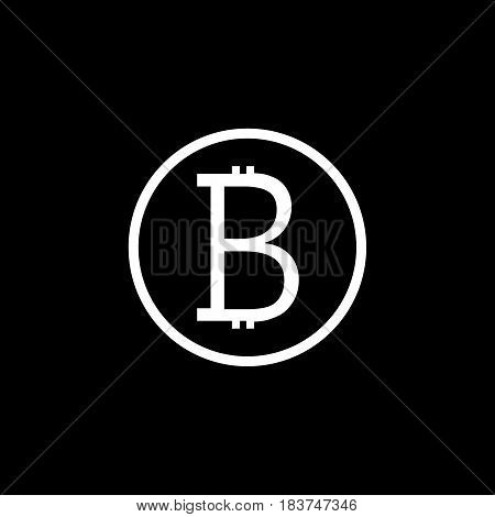 Bitcoin solid icon, finance and business, bitcoin sign vector graphics, a filled pattern on a white background, eps 10.