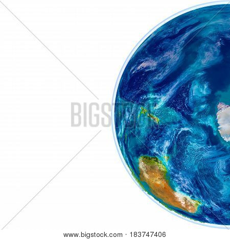 Antractic On Physical Globe