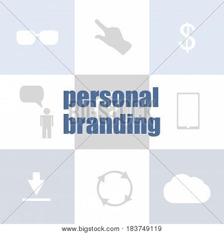 Text Personal Branding. Marketing Concept . Infographic Template For Presentations Or Information Ba