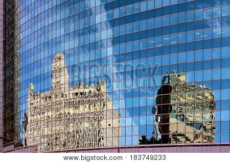 A reflection of one architecture style in another