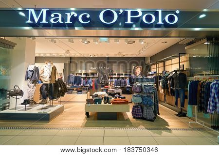 COLOGNE, GERMANY - CIRCA SEPTEMBER, 2014: Marc O'Polo store at Cologne Bonn Airport.