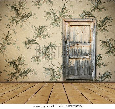 vintage interior with door
