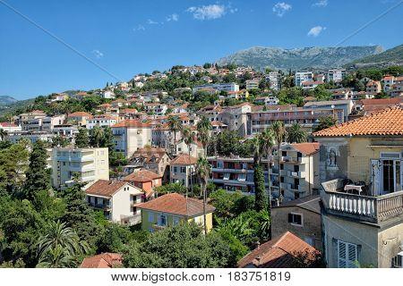 panorama Herceg Novi in Kotor Bay, Montenegro