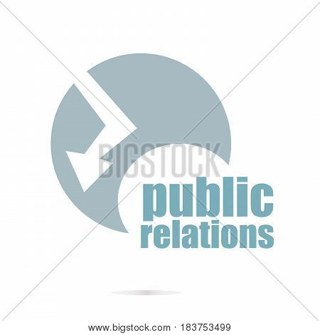 Text Public Relations. Social Concept . Logo Element And Abstract Web Icon