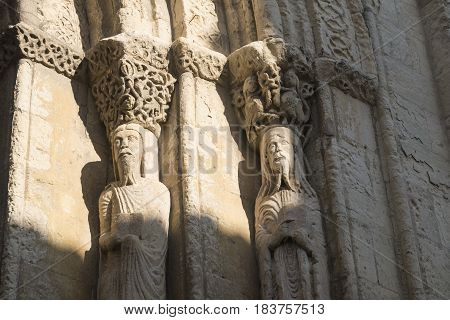 Segovia (Castilla y Leon Spain): exterior of the medieval church of San Martin detail