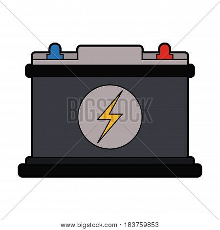 colorful silhouette car battery icon vector illustration